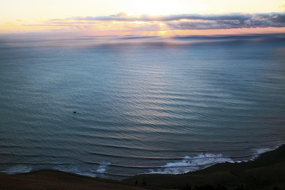 Blick von den Spanish Flats auf die Küste