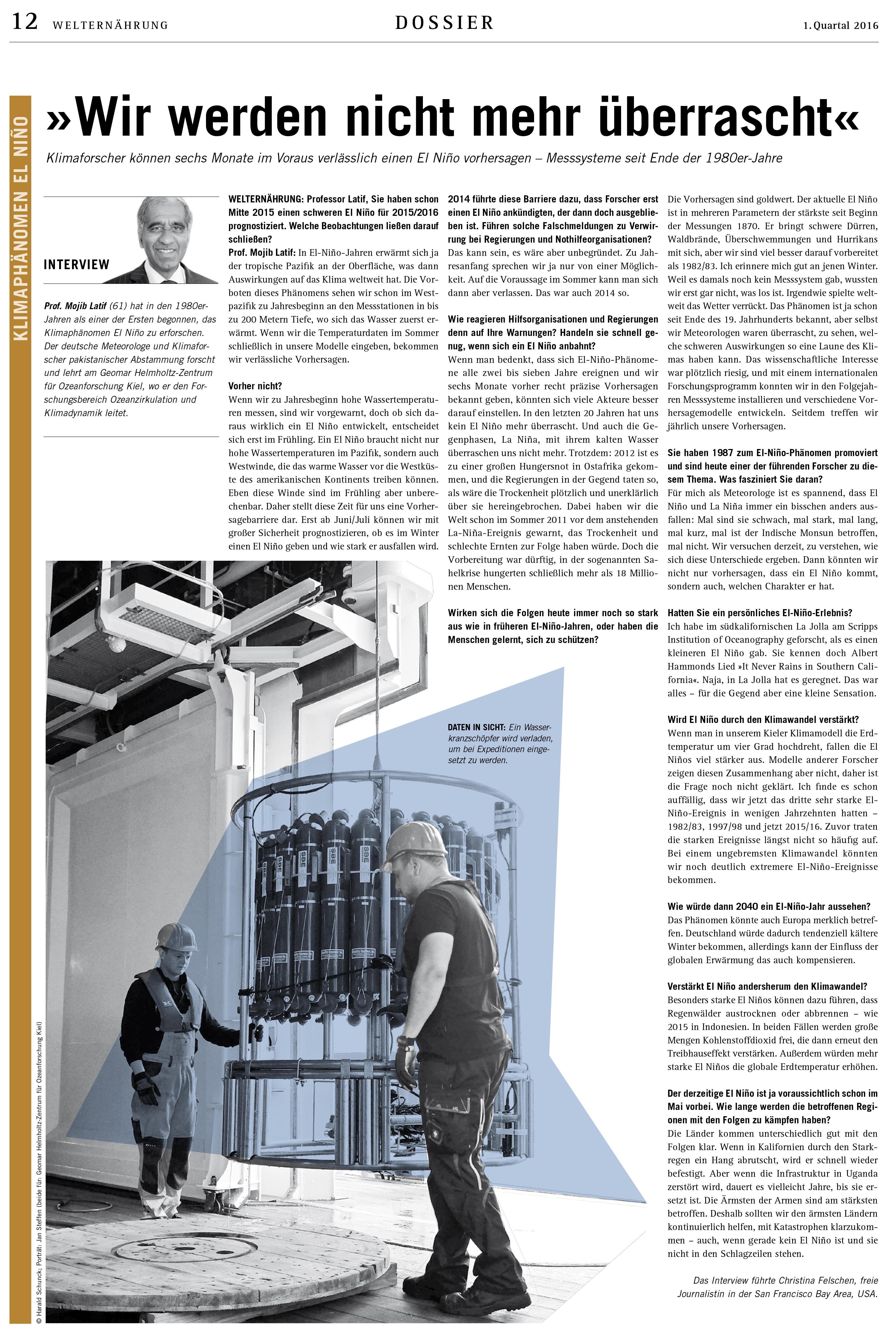 Welternaehrung_Interview Mojib Latif